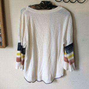 Splendid Tops - SPLENDID Comfy Slouchy Baseball Stripes Tee Tunic